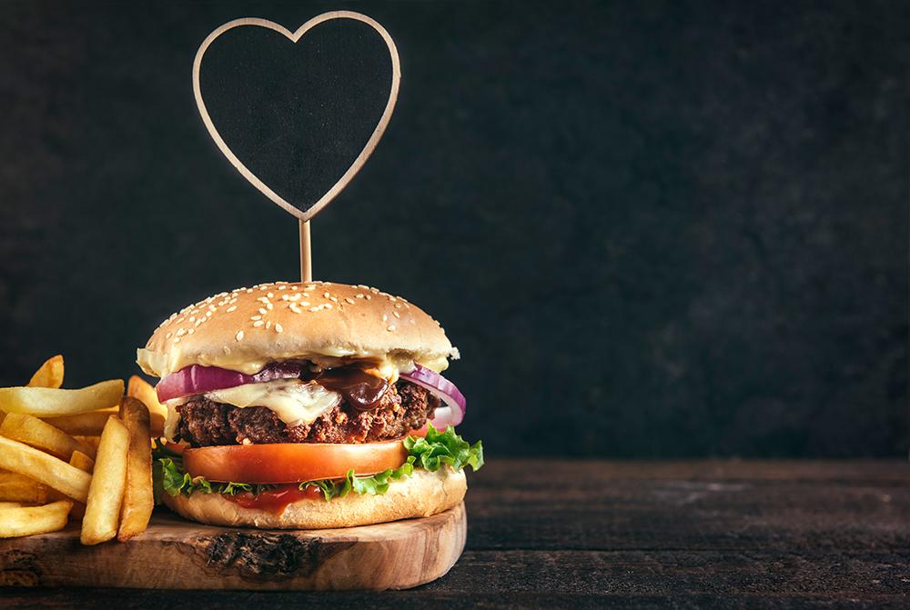 Valentijnsdag Hamburger