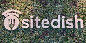 Sitedish logo op het nieuwe kantoor
