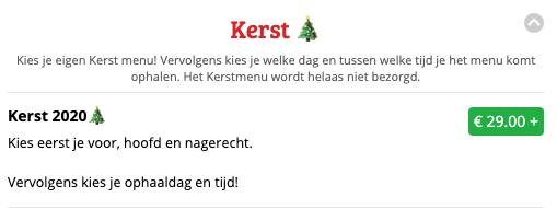 Kerstmenu Sitedish